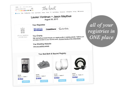 Wedding Registry Preview