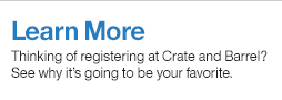 About Registering at Crate And Barrel