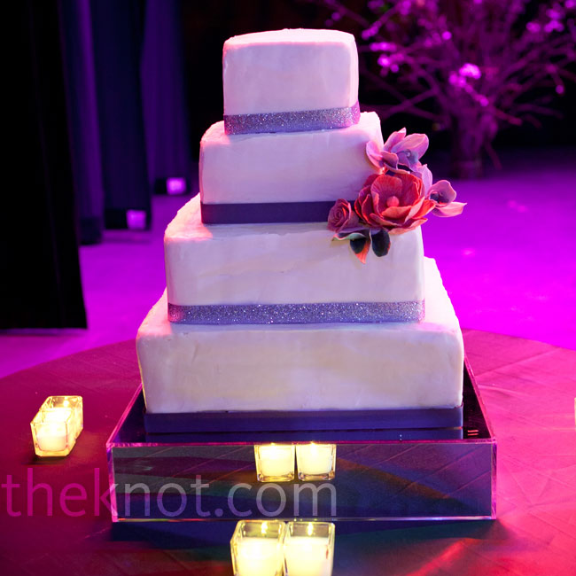 square wedding cake with purple ribbon 301 moved permanently 20438