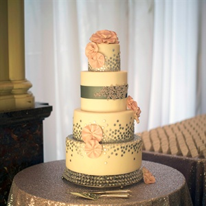 grey and pink wedding cakes pink and gray wedding cake 14980