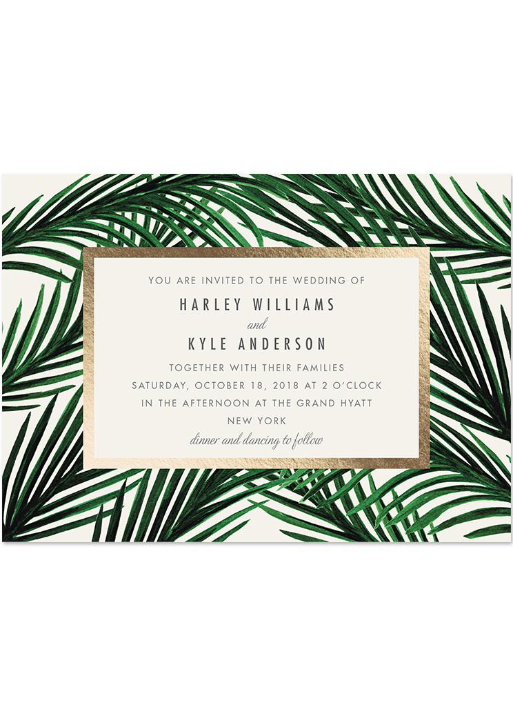 Wedding Invitations From Minted Watercolorwreath Gardenlights Tropicallove Someonelikeyou
