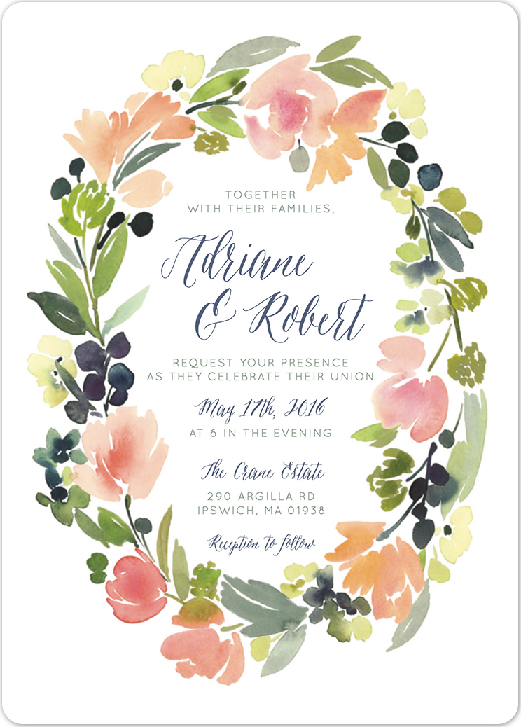 wedding invitations from minted - Wedding Invitation Wording Together With Their Parents