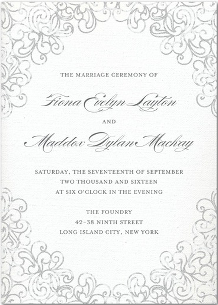 wedding invitations: a complete checklist - wedding planning, Invitation templates